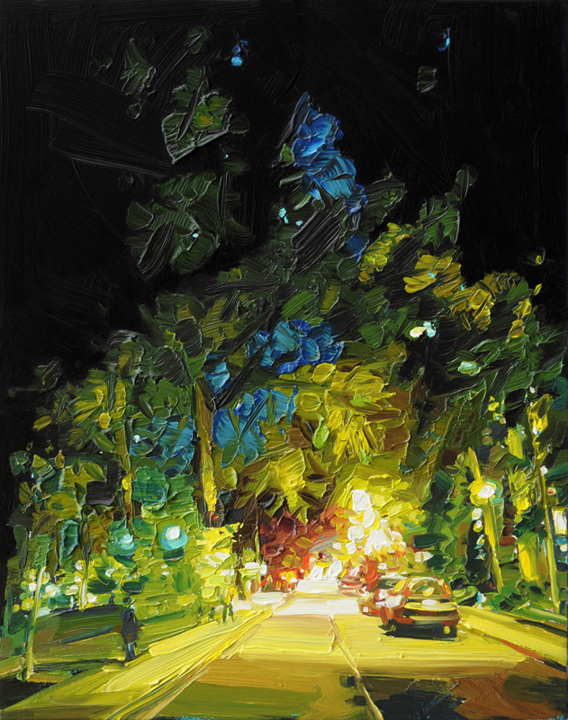Mara-Korkola, NP428, landscape, night scenes, city, contemporary art gallery, Vancouver, Elissa Cristall Gallery