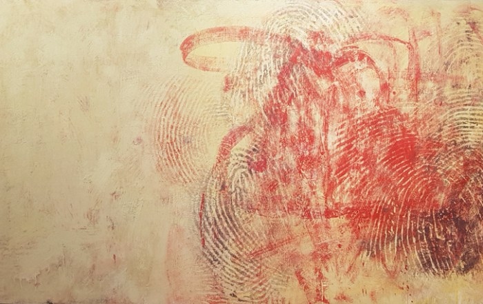 Randall Steeves, abstract art, encaustic, painting, modern art , contemporary art, finger prints, Vancouver, Elissa Cristall Gallery