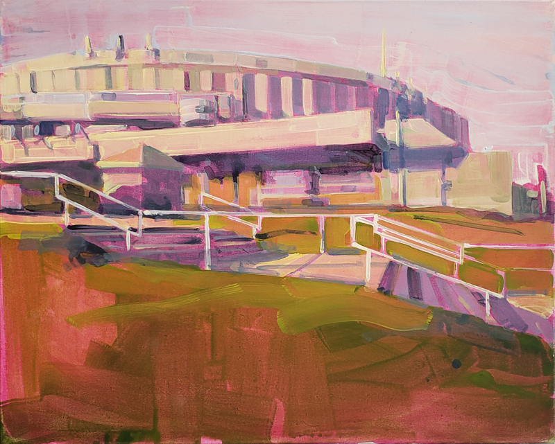 Gillian Richards, Coliseum, landscape painting, Elissa Cristall Gallery