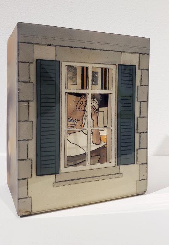 Jessica Korderas, Spannerin, resin sculpture, Elissa Cristall Gallery