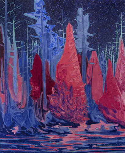 Kyle Scheurmann, New Moon, contemporary, landscape, Elissa Cristall Gallery