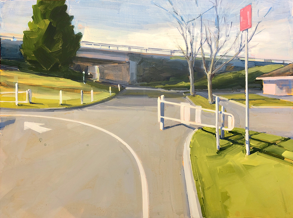 Gillian Richards, Park Gate, acrylic on canvas, 36x48 inches, Elissa Cristall Gallery