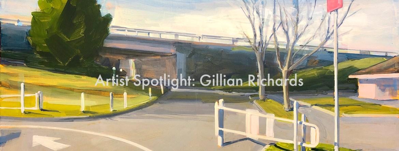Gillian Richards, Park Gate, acrylic on canvas, 36 x 48 inches