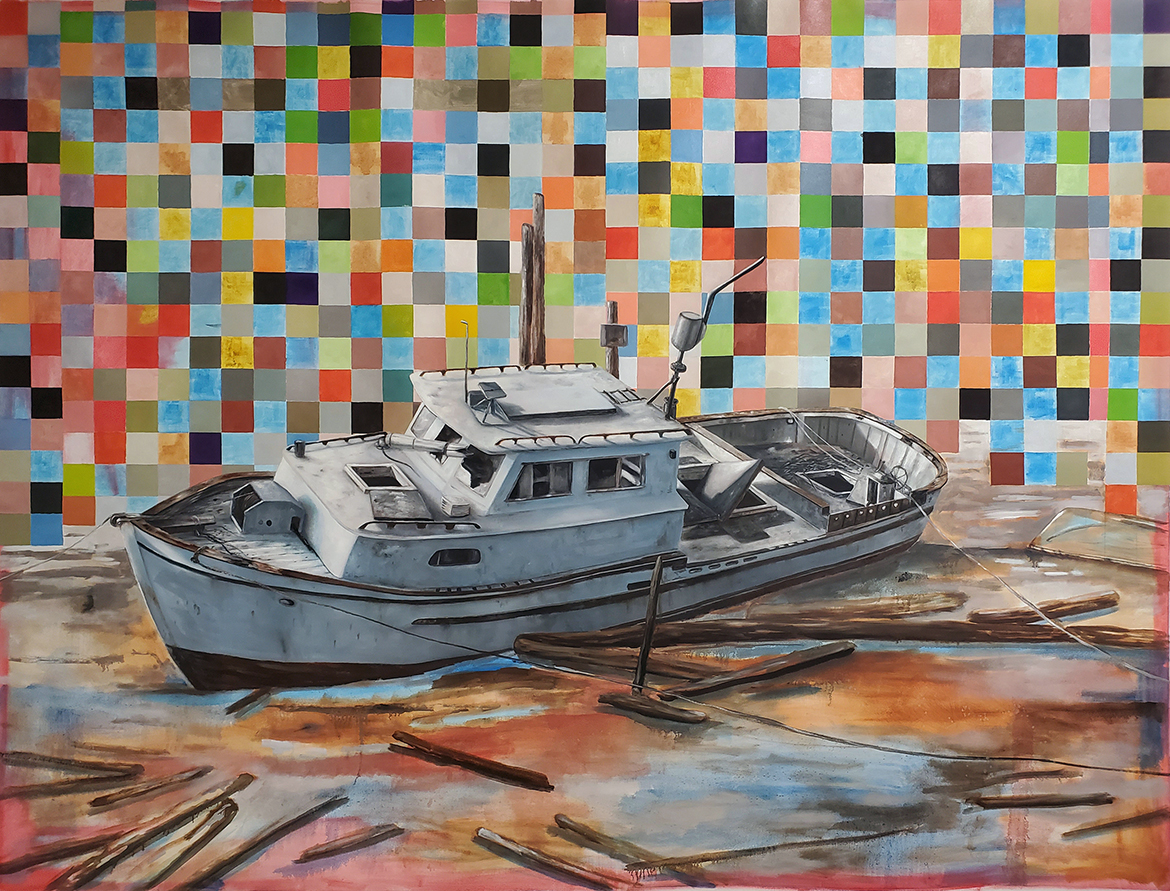 Jereon-Witvliet-ShipWreck-breaking-of-the-vessel-oil-on-canvas-180x240cm-ecg