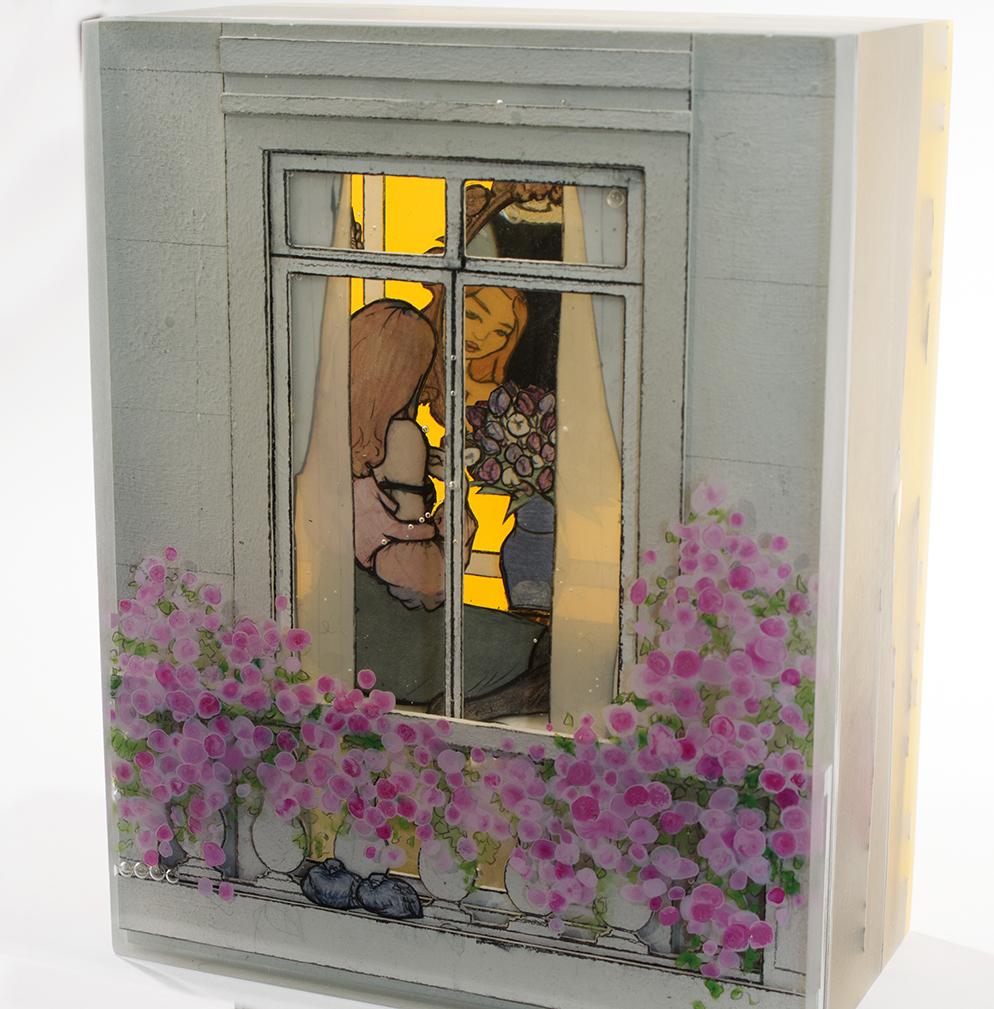Jessica Korderas, Voyeuse, cast resin sculpture