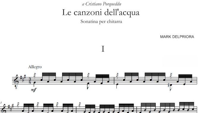 Le Canzoni Dellacqua Mark Delpriora Cristiano Porqueddu