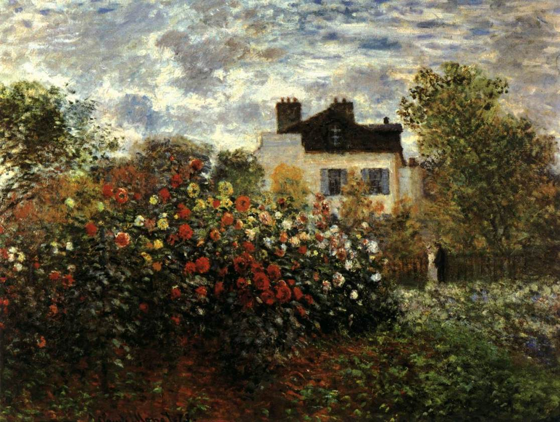 Claude Monet, Monet\'s Garden at Argenteuil | Cristiano Porqueddu
