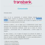 Transbank Actualización de Certificado