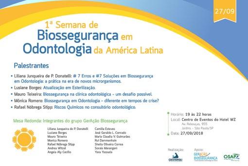 Biossegurança em Odontologia da America Latina em São Paulo