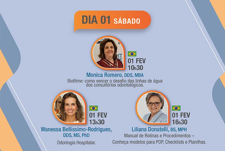 CIOSP 2020 - 01 fevereiro Programação Cristófoli Biossegurança com: Liliana Donatelli e Monica Romero e Wanessa Bellissimo-Rodrigues,