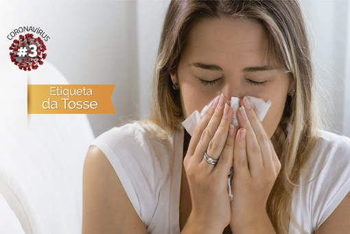 Coronavirus etiqueta da tosse
