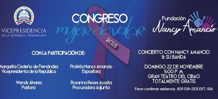 Nancy Amancio con su Banda En Vivo, dentro del Congreso Mujer de Valor