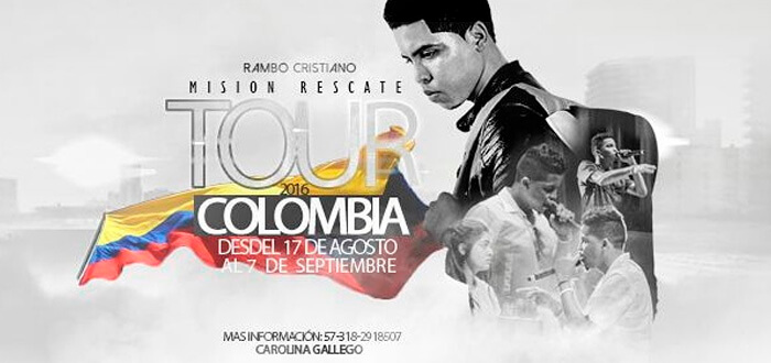 Rambo Cristiano llegá a Colombia en su Tour 2016