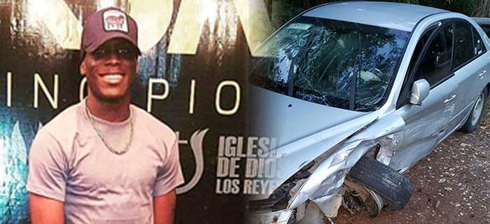 Integrante de R.M.S. Sufre accidente automovilístico