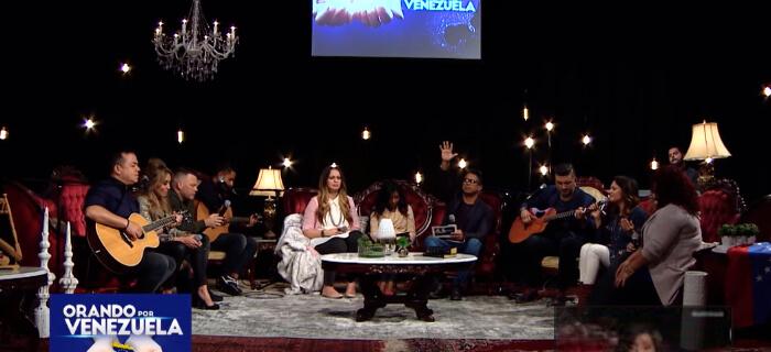 Enlace TV presento un evento de adoración Orando por Venezuela
