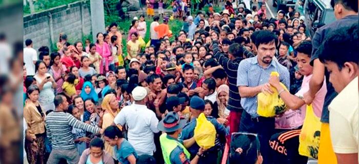 Manny Pacquiao anuncia la edificación de orfanato y cita Santiago 1:27