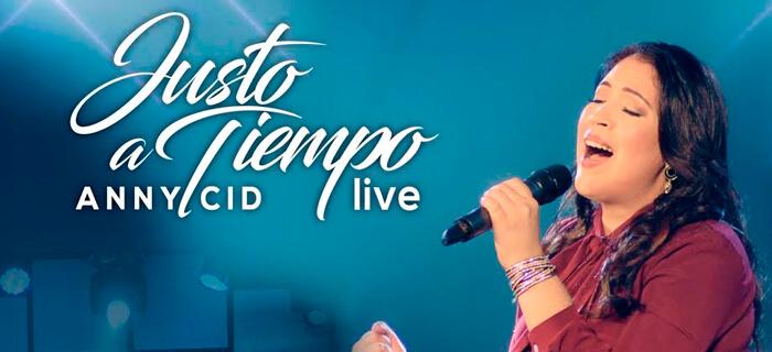 Anny Cid graba su próxima producción Justo a tiempo Live