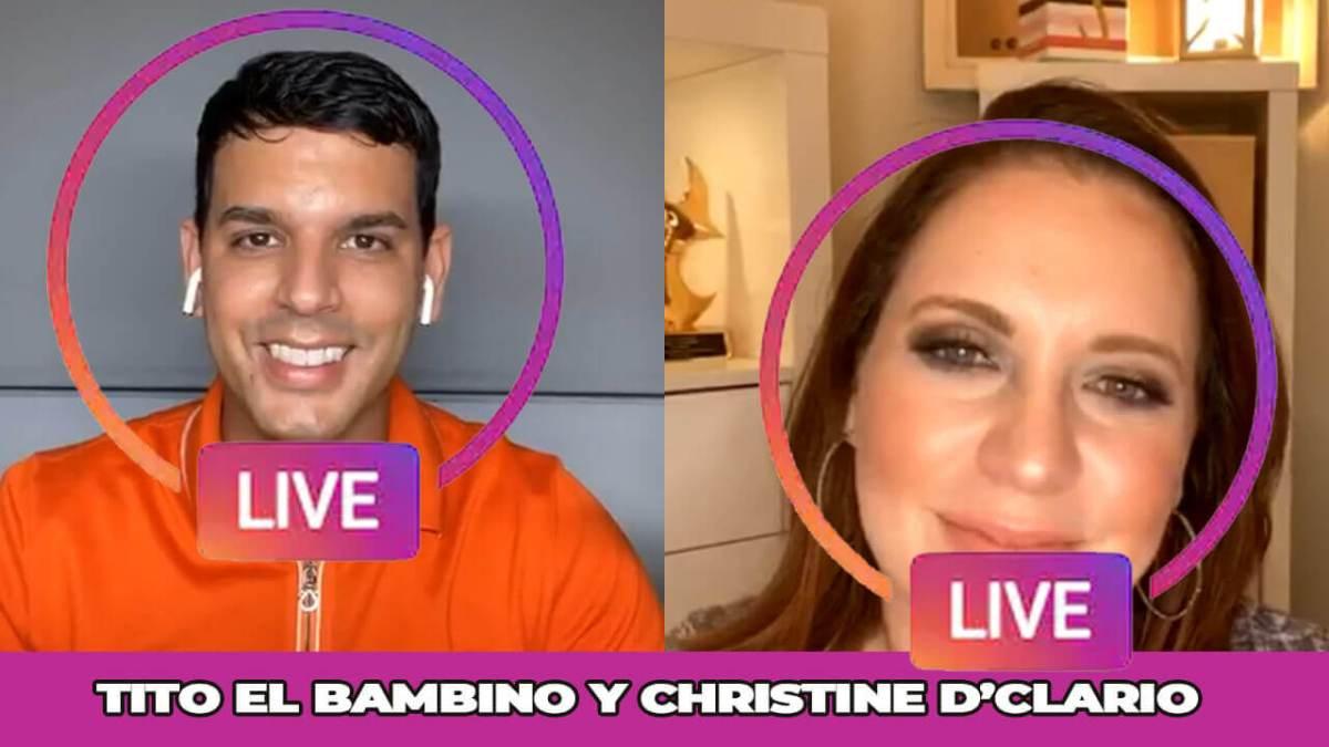 CHRISTINE D'CLARIO junto a TITO EL BAMBINO en LIVE INSTRAGRAM