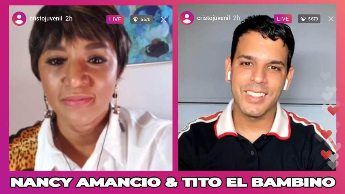 """NANCY AMANCIO comparte con TITO EL BAMBINO """"EL AMOR DE DIOS TE RESTAURA"""""""