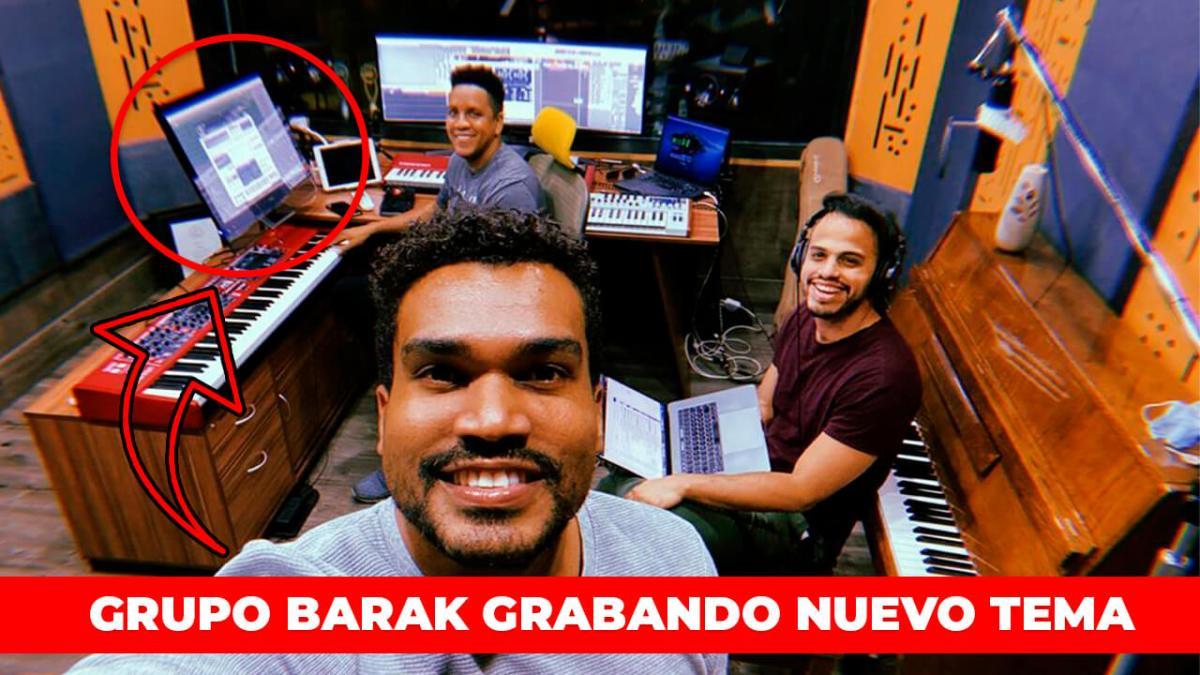 GRUPO BARAK GRABANDO TEMAS NUEVOS DESDE SU ESTUDIO