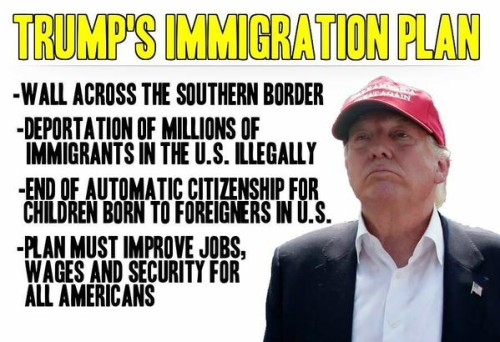 Image result for donald trump immigrants