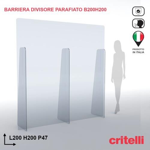 barriera parafiato divisorio BARDIV200H200XL