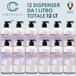 gel igienizzante mani Dermogel base alcool isopropilico al 75percento