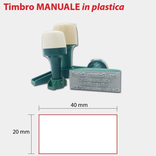 TIMBRO MANUALE-PLASTICA-40X20