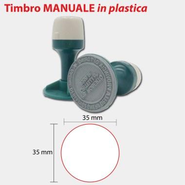 MANUALE TONDO PLASTICA 35X35