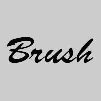 Carattere Font Brush script