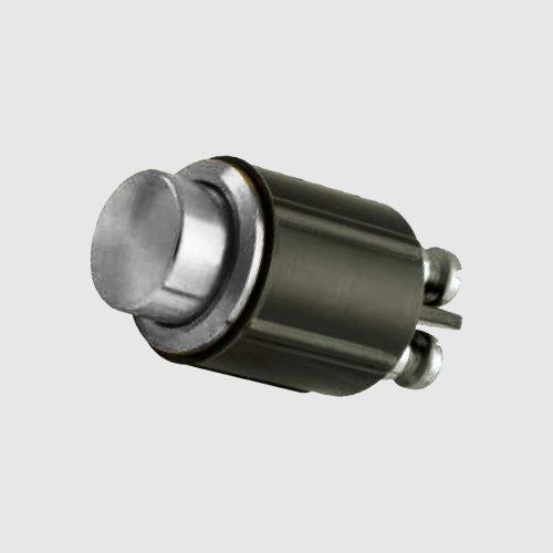 Pulsante pulsantiera citofono testa piatta cromato argento