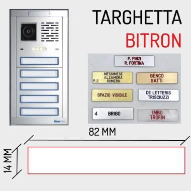 Targhetta citofono pulsantiera bitron 82x14