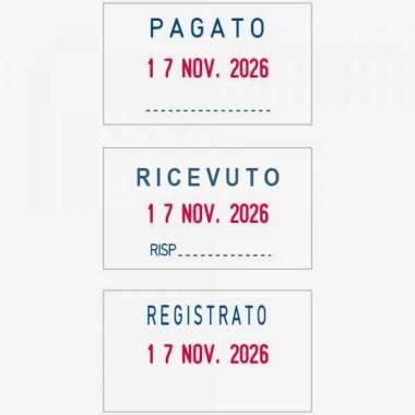 Impronta Timbro Trodat Professional 5430L Datario 41x24 mm