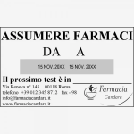 Impronta Timbro Trodat Professional Doppio Datario 54126 116 x 70 mm - 6+6 righe