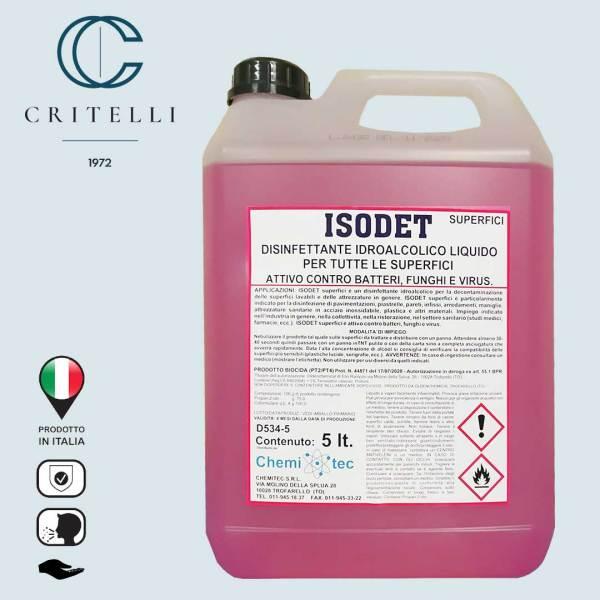 Isodet igienizzante decontaminante professionale disinfettante