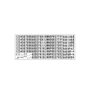 Trodat Typo 6004 Set Caratteri