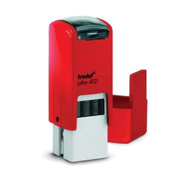 Timbro Autoinchiostrante Rosso 12x12mm Trodat Printy 4921