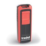 Timbro Autoinchiostrante Tascabile Trodat Pocket Printy 9512 Nero-Rosso compreso di Impronta Laser in Gomma 47 x 18 mm