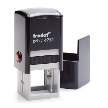 Timbro Autoinchiostrante a 5 righe Nero 25x25mm Trodat Printy 4933.jpg