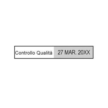 Timbro autoinchiostrante Trodat Printy Datario 4813 26 x 9 mm - 1 o 2 righe