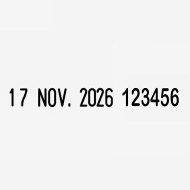 Timbro Manuale Trodat Classic Datario-Numeratore 1010 1546 impronta