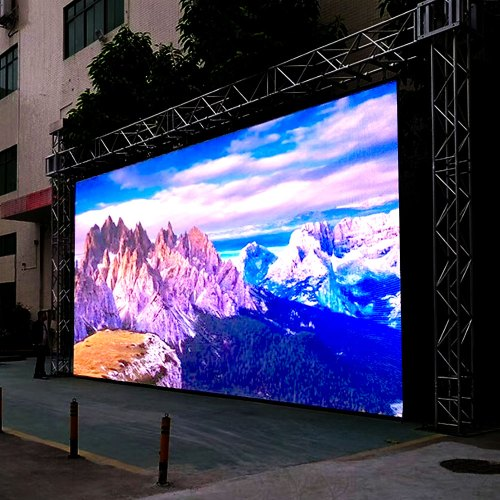 led wall outdoor vetrine negozi aziende rgb video