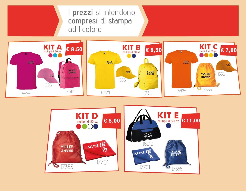 kit promozionale tempo libero con marchio logo