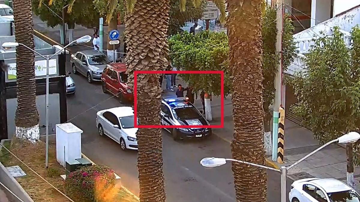 Ladrón fue capturado tras intento de robo en avenida Revolución de Pachuca (VIDEO)