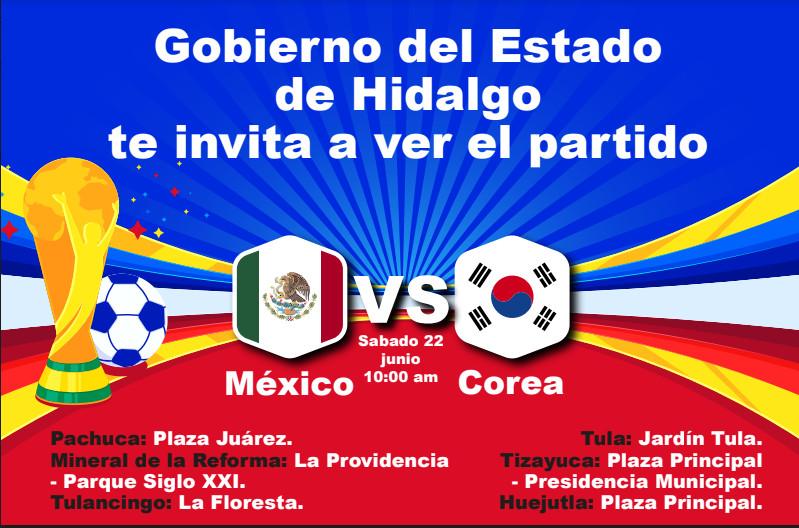 Habrá pantallas para ver el México vs Corea este sábado en 6 municipios