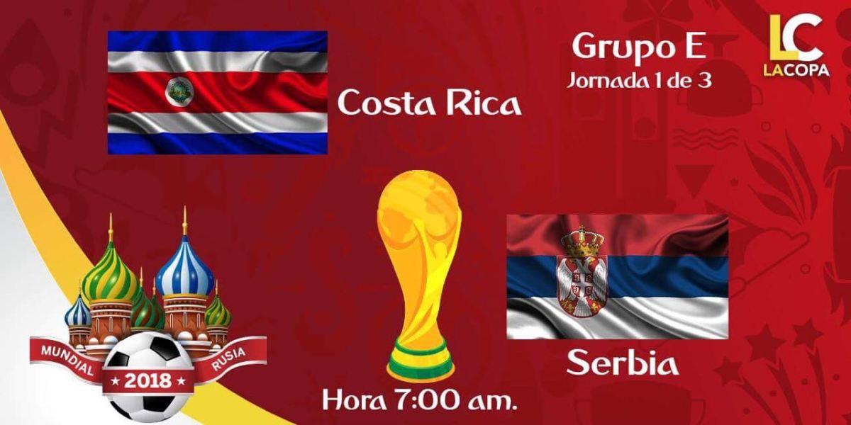 Links para ver el juego Costa Rica vs Serbia