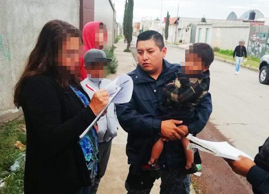 Encuentran a niño de dos años que deambulaba solo en las calles de Pachuca