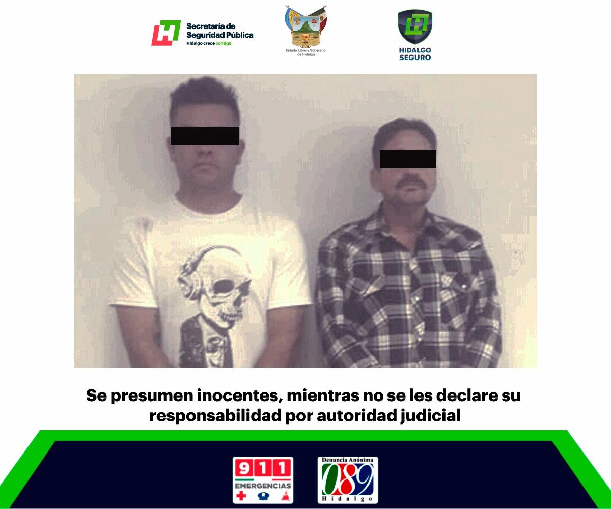 Detienen a dos hombres con 20 cheques falsos en Pachuca