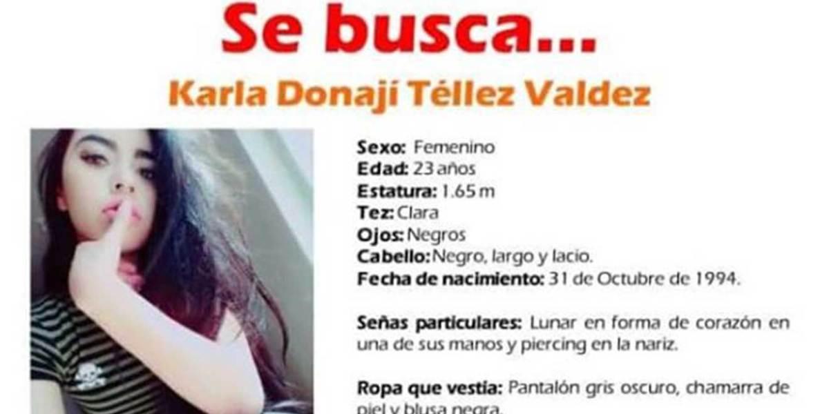 Se busca a Karla Donají Téllez Valdéz, desapareció en Pachuca