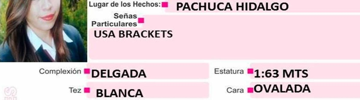 Se busca a Luz Yaneli Martínez Hernández, desapareció en Pachuca